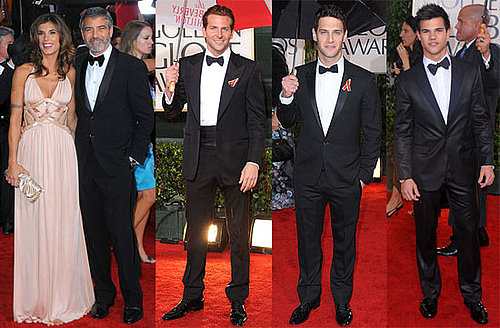 Photos of George Clooney and Taylor Lautner on the Red Carpet at the 2010 Golden Globe Awards in LA