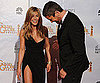 Slide of Jennifer Aniston at Golden Globes