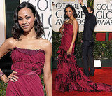 Zoe Saldana in Louis Vuitton at 2010 Golden Globes Awards