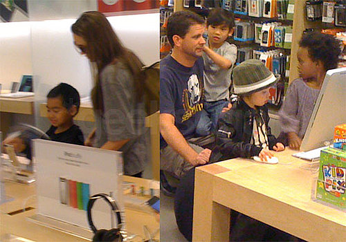 Angelina Jolie and Maddox Pick Out an iPod Touch at the LA Apple Store