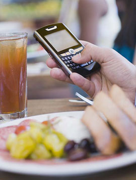 Cell Phones and Restaurants Don't Mix . . . or Do They?