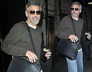 Photos of George Clooney Leaving His Hotel in NYC
