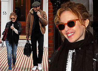 Photos of Kylie Minogue and Her Boyfriend Andres Velencoso Smiling After Dannii Minogue's Pregnancy Announcement
