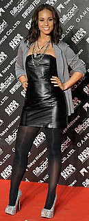 Alicia Keys Wears Leather Dress