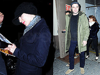 Photos of Scarlett Johansson and Liev Schreiber Outside Broadway Show in NYC