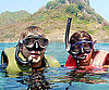 Slide Photo of Penelope Cruz and Javier Bardem Snorkeling in Brazil