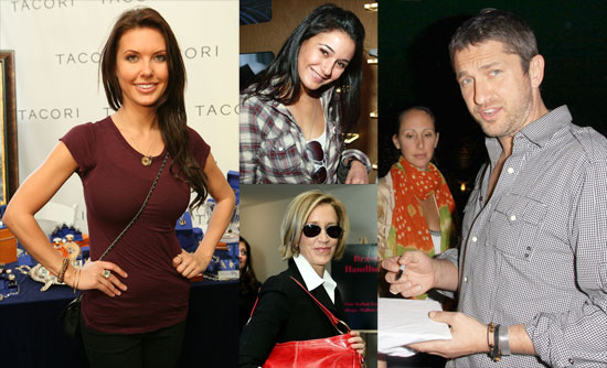 Photos of Audrina Patridge, Gerard Butler and Kristin Bell At the Golden Globe Swag Tent