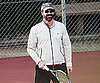Slide Photo of Jon Hamm Playing Tennis in LA