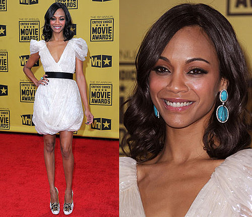 Zoe Saldana at 2010 Critics' Choice Awards 2010-01-15 18:10:15