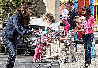 Photos of Ben Affleck, Jennifer Garner, Violet and Seraphina Affleck at the Park in LA