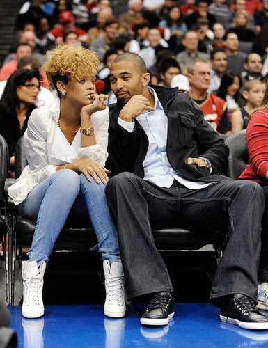 Rihanna And Matt Kemp at a Lakers Game