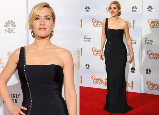 Kate Winslet in Yves Saint Laurent at the Golden Globes