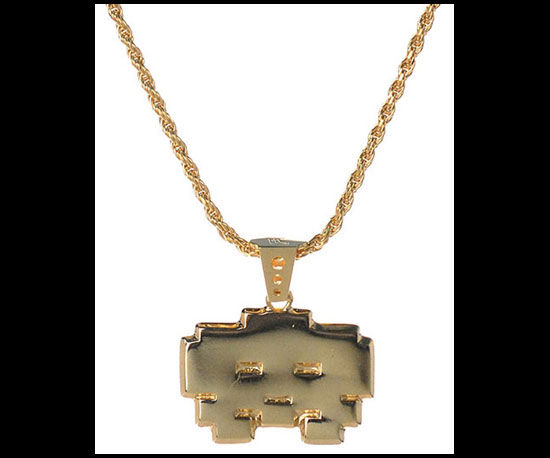 Space Invaders Necklace ($165)