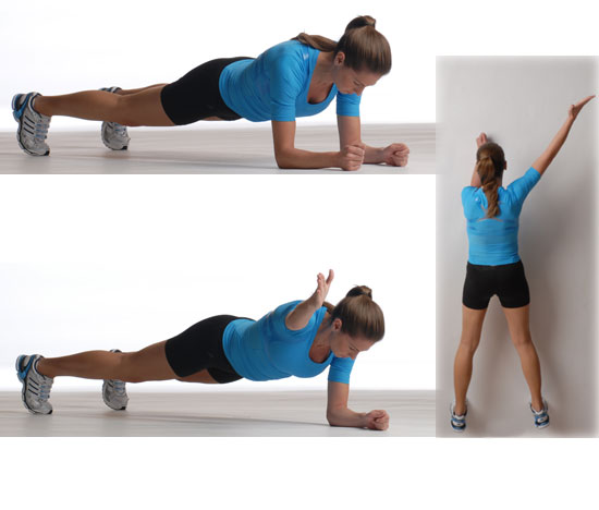 Plank With Diagonal Arm Reach