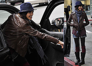 Photos of Jessica Alba Smiling and Wearing a Fedora in LA