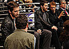 Jake Gyllenhaal at a Hockey Game With Jerry Bruckheimer and Vince Vaughn