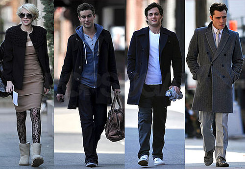 Photos of Ed Westwick, Penn Badgley, and Chace Crawford on the NY Set of Gossip Girl