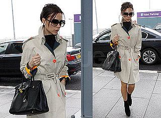Photos of Victoria Beckham at Heathrow; Talking to Ryan Seacrest About American Idol and David