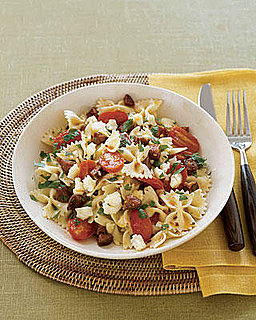 Fast & Easy Real Simple Recipe for Bow-Tie Pasta with Chorizo & Tomatoes