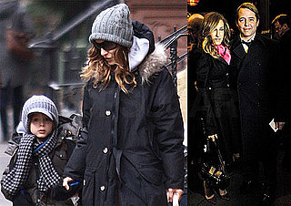 Photos of Halston's Sarah Jessica Parker With Matthew Broderick And James Wilkie Broderick in NYC