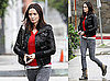 Photos of Emily Blunt Running Errands in a Black Leather Jacket in LA
