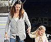 Slide Photo of Jennifer Garner and Violet Affleck Holding Hands in LA