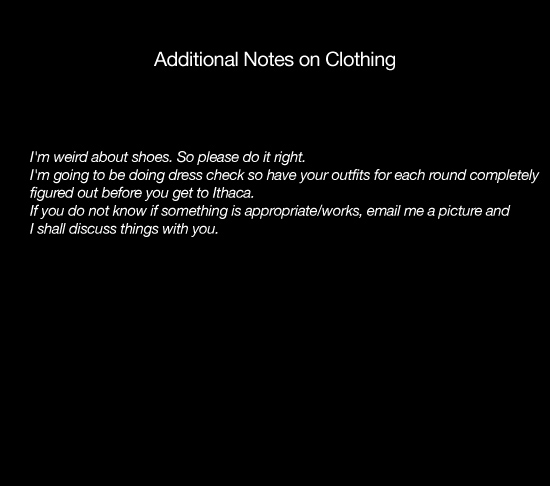 Additional Notes on Clothes