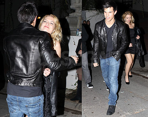 Photos of Taylor Lautner Leaving a 2010 Grammys Afterparty