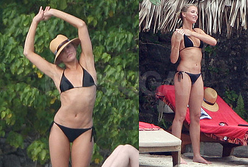 Photos of Cameron Diaz in a Black Bikini While on a Caribbean Vacation
