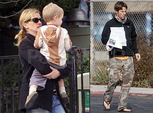Photos of Julia Roberts Bringing Henry to School in LA