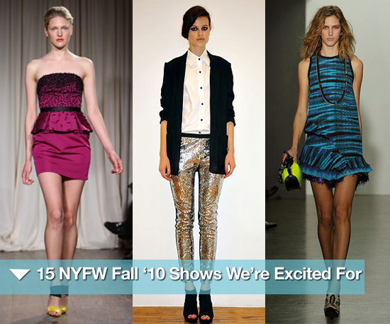 15 New York Fashion Week Fall '10 Shows We're Excited For