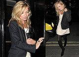 Kate Moss in London in Yves Saint Laurent blazer