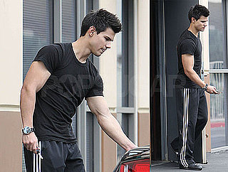 Photos of Taylor Lautner Leaving Lunch at Mr Chow in LA