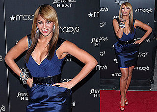 Photos of Beyonce Wearing a Blue Dress in NYC 2010-02-04 07:45:00