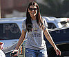 Slide Photo of Sandra Bullock Wearing a Gray T Shirt in LA
