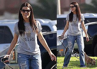 Photos of Sandra Bullock Walking Her Three Legged Chihuahua in LA