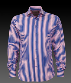 Thomas Pink Blue and Pink Slim Fit Shirt ($185)