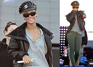 Photos of Rihanna Practicing For Her Super Bowl Performances