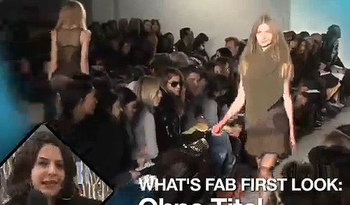 FabTV: What's Fab First Look, Ohne Titel Runway at New York Fashion Week