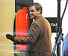 Slide Photo of Matt Damon in London Working on Hereafter