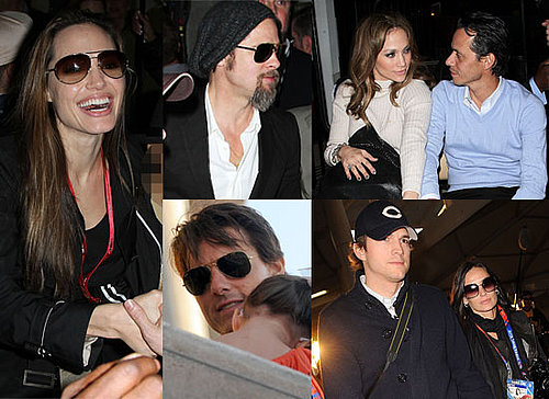 Photos of Angelina Jolie and Brad Pitt at 2010 Super Bowl and Demi Moore, Ashton Kutcher, Jennifer Lopez, Marc Anthony, Rob Lowe 2010-02-08 14:30:38