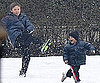 Slide Photo of Brooklyn and Cruz Beckham Playing in the Snow in Italy