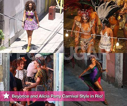 Extensive Gallery of Photos of Alicia Keys and Beyonce Knowles Filming Music Video Put It In A Love Song in Rio de Janeiro