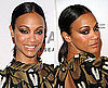 How to Get Zoe Saldana's Sleek Ponytail