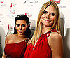 Slide Photo of Heidi Klum and Kim Kardashian at Fashion Week