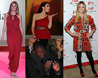 Photos of Heidi Klum, Kim Kardashian, Pregnant Bethenny Frankel, and More at the 2010 Red Dress Heart Truth Fashion Show in NYC 2010-02-14 14:00:53