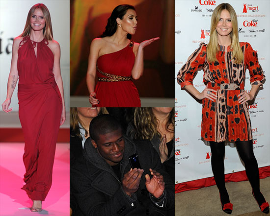 Photos of Heidi Klum, Kim Kardashian, Pregnant Bethenny Frankel, and More at the 2010 Red Dress Heart Truth Fashion Show in NYC