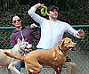 Slide Photo of John Krasinski and Emily Blunt at the Dog Park