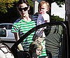 Slide Photo of Jennifer Garner and Violet and Seraphina in LA