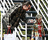 Slide Photo of Gavin Rossdale and Kingston Leaving Fred Segal in LA with a Present in Hand
